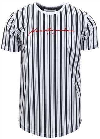Heartbreaker Club White Garner Stripe T-Shirt  - Click to view a larger image