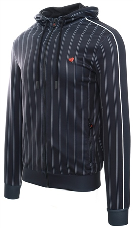 Heartbreaker Club Black Lesson Stripe Logo Hoodie  - Click to view a larger image