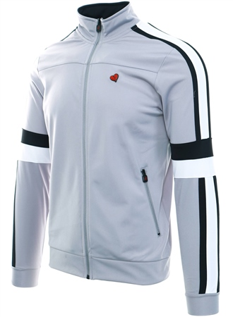 Heartbreaker Club Grey Power Panel Track Top  - Click to view a larger image