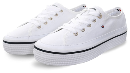 Tommy Jeans White Corporate Flatform