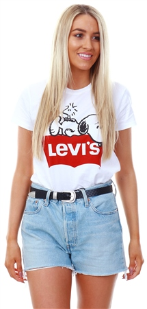 bf9395767 Levi's ® White - White X Peanuts Perfect Graphic Tee - Click to view a  larger