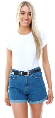 Veromoda Blue / Medium Blue Denim Shorts  - Click to view a larger image