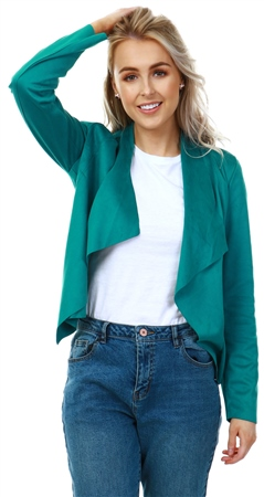 Only Green Suedette Short Jacket  - Click to view a larger image