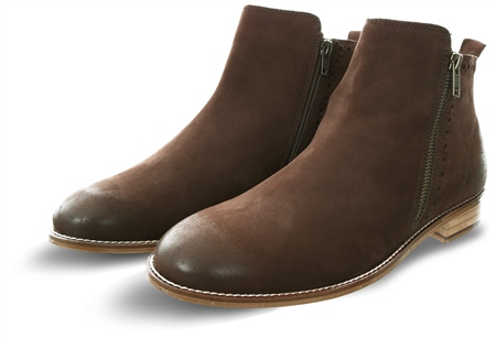 London Brogue Brown Wallace Nubuck Brown Boot  - Click to view a larger image