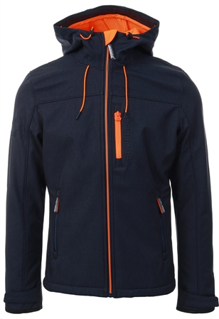 Superdry Navy Orange Hooded Windtrekker  - Click to view a larger image