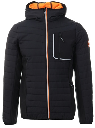 Superdry Black Convection Hybrid Jacket  - Click to view a larger image