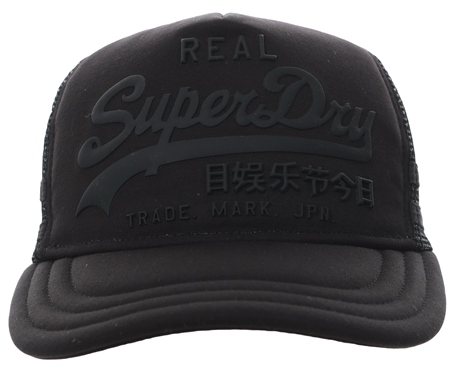 Superdry Black Premium Goods Cap  - Click to view a larger image