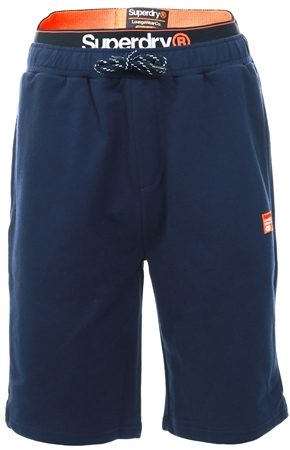 Superdry Navy Laundry Organic Cotton Sweat Shorts  - Click to view a larger image