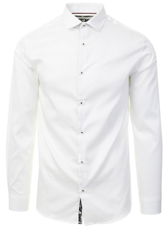 Jack & Jones White / White Slim Fit Shirt  - Click to view a larger image