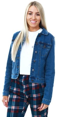 Veromoda Medium Blue Short Denim Jacket  - Click to view a larger image