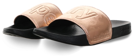 Superdry Black Pool Slip On Sliders  - Click to view a larger image