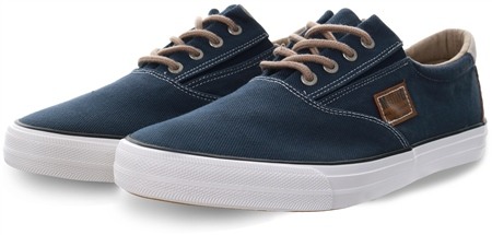 Mustang Navy Canvas Lace Up Shoe  - Click to view a larger image
