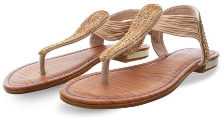 Escape Rose Gold Sarasota Embellished Sandal  - Click to view a larger image