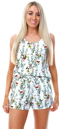 Veromoda Snow White Simple Betty Floral Shorts  - Click to view a larger image