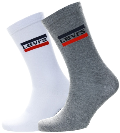 Levi's ® White/Grey 168sf Regular Cut Sportswear Logo 2 Pack  - Click to view a larger image