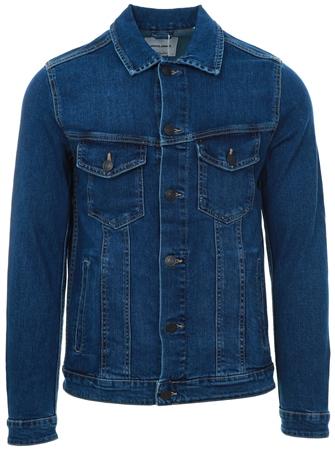 Jack & Jones Blue Denim Comfort Fit Denim Jacket  - Click to view a larger image