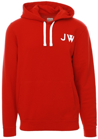 Jack Wills Red Thurlby Popover Hoody  - Click to view a larger image