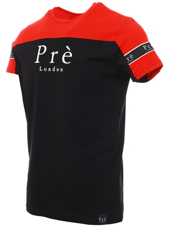 Pre London Black/Red Eclipse Short Sleeve T-Shirt  - Click to view a larger image