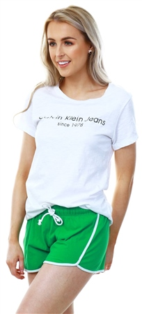 Brave Soul Green Lillian Jesery Shorts  - Click to view a larger image