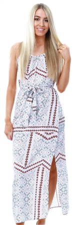 Veromoda Snow White Simply Easy Spilt Maxi Dress  - Click to view a larger image