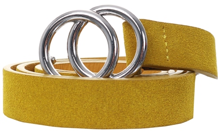 Pieces Arrow Wood Double Ring Buckle Belt  - Click to view a larger image