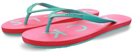 Jack Wills Pink / Blue Elland Flip Flops  - Click to view a larger image