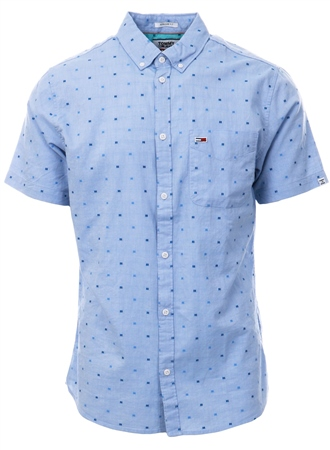 Tommy Jeans Limoges Micro Pattern Short Sleeve Shirt  - Click to view a larger image