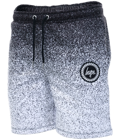 Hype Black Speckle Fade Crest Shorts  - Click to view a larger image