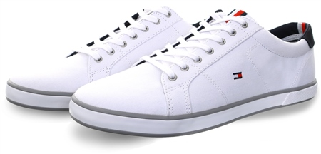 Hilfiger Denim White Arlow Lace Up Trainer  - Click to view a larger image