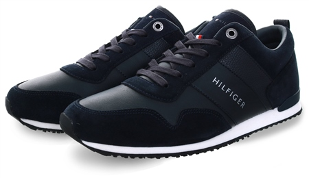 Hilfiger Denim Midnight Iconic Lace-Up Trainers  - Click to view a larger image