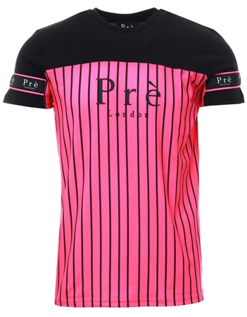 Pre London Neon Pink/Black Eclispe T-Shirt  - Click to view a larger image