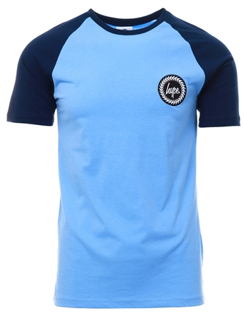 Hype Sky Blue Contrast Raglan T-Shirt  - Click to view a larger image