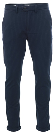 Jack & Jones Navy Marco Pinstripe Trouser  - Click to view a larger image