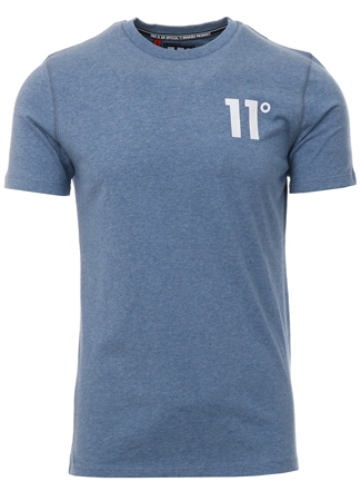 11degrees Sleet Marl Short Sleeve Core T-Shirt  - Click to view a larger image