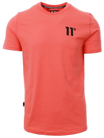 11degrees Red Salmon Short Sleeve Core T-Shirt  - Click to view a larger image