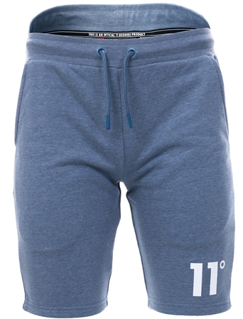 11degrees Sleet Marl Core Sweat Shorts  - Click to view a larger image
