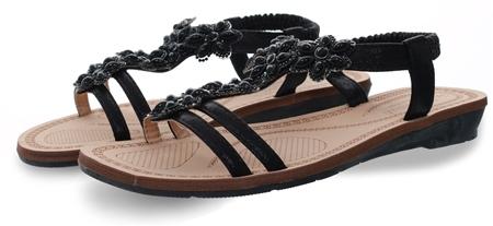 Dv8 Black Embellished Sandal  - Click to view a larger image
