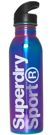 Superdry Navy Steel Sports Bottle  - Click to view a larger image