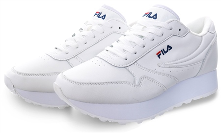 Fila White Orbit Zeppa Low Trainers  - Click to view a larger image