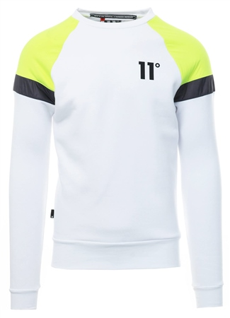 11degrees White/Grey Neo Sweatshirt  - Click to view a larger image
