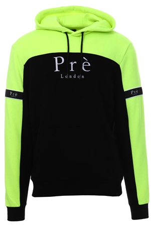 Pre London Black/Yellow Neon Eclispe Hoodie  - Click to view a larger image
