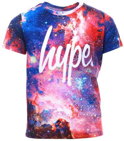 Hype Multi Space Storm Script Kids T-Shirt  - Click to view a larger image
