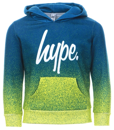 Hype Navy/ Lime Green Pullover Fade Hoodie  - Click to view a larger image