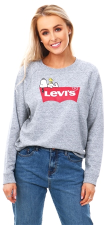 Levi's ® Smokestack - Grey X Peanuts Graphic Crewneck Sweatshirt  - Click to view a larger image