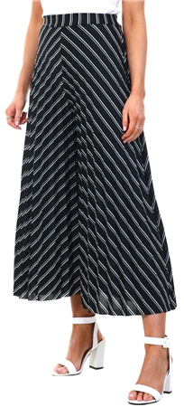 Qed Black/White Pattern Pleat Culottes  - Click to view a larger image