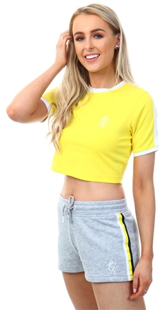 64487122 Gym King Yellow Ringer Crop T-Shirt | | Shop the latest fashion ...