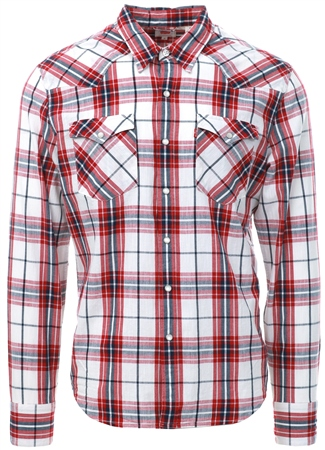 Levi's Red Barstow Western Shirt  - Click to view a larger image