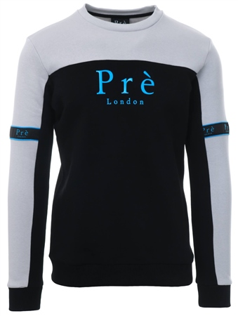 Pre London Black/Grey Eclipse Crew Sweat  - Click to view a larger image