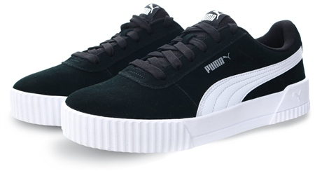 Puma Black/Silver Carina Lace Up Trainers  - Click to view a larger image