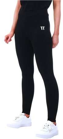 11degrees Black Logo Print Leggings  - Click to view a larger image